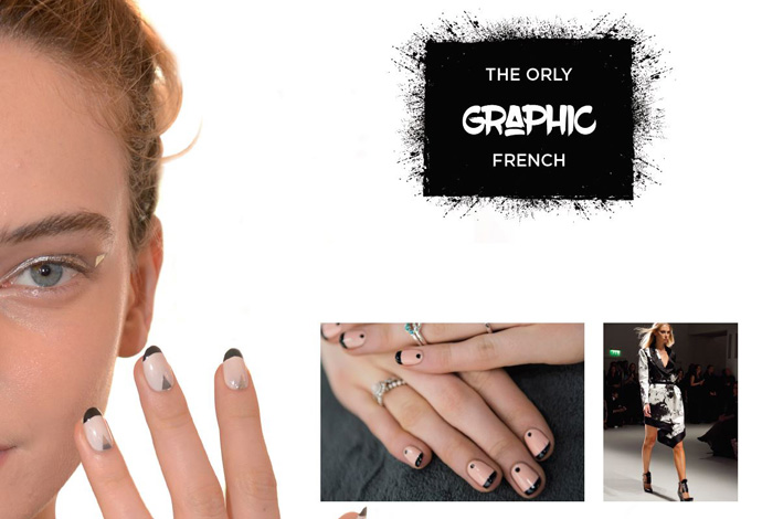 Graphic French Mani